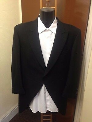 Mens Black Tailcoat, 100% Wool, Varies Sizes Available, Wedding, Suit Etc