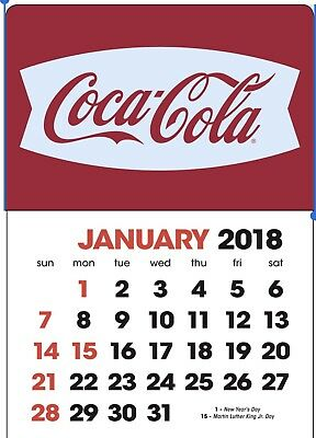 NEW 2018 white fishtail  Coke dash calendar