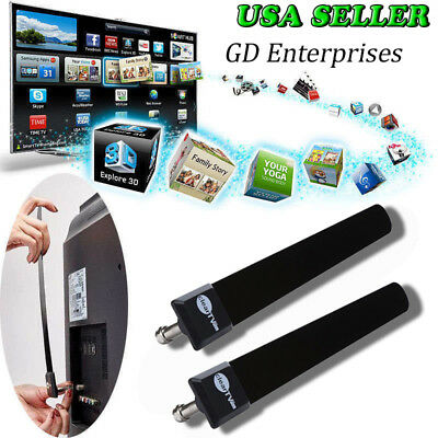 2x Clear TV KEY Free HDTV Digital Indoor Antenna Ditch Cable As Seen On TV.