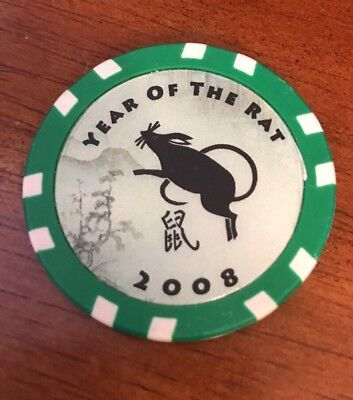 2008 Year of the Rat Las Vegas $25 Collectible Poker Chip