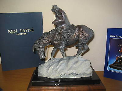 "Ken Payne Bronze ""Winds of Winter"" Ltd Ed #4 of 75 - Mint Condition - FREE S & H"