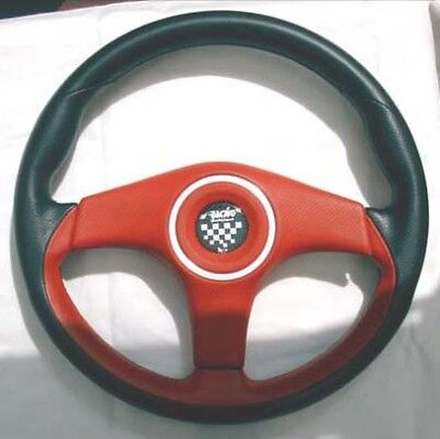 Barchetta Steering Wheel with red detail.