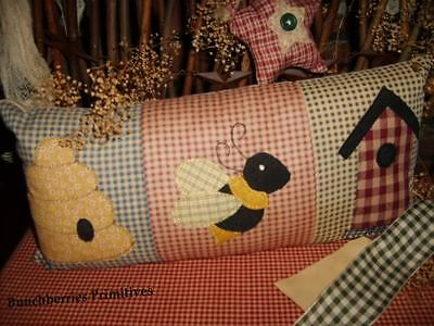 Beehive Country Prim Pillow ~ Cupboard Tuck ~