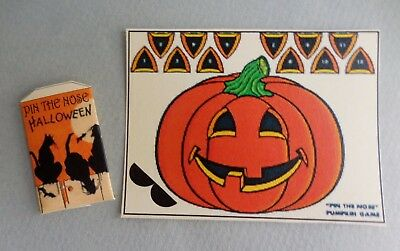 Dollhouse Miniature ~ Halloween Pin The Nose On The  Pumpkin
