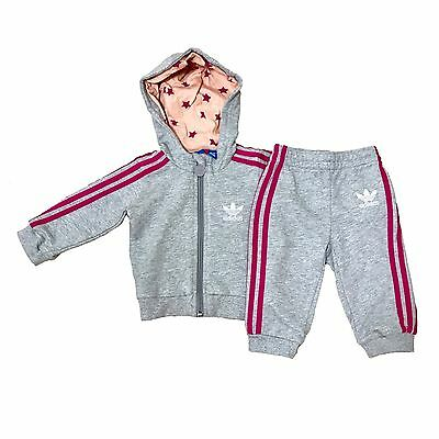Adidas Originals Infant Baby Girls Tracksuit LARGE LOGO ON THE BACK French Terry