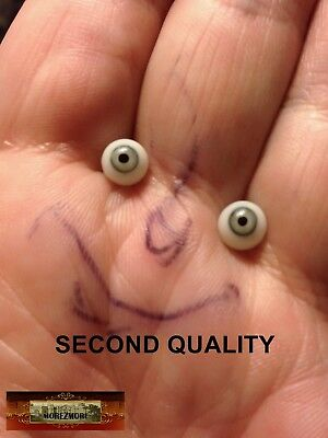 M00217 MOREZMORE Doll Glass Eyes SECONDS 6mm 6 MM GREEN GREY A60