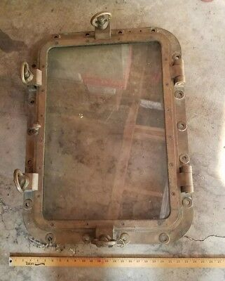 Porthole WWI era authentic brass w/glass