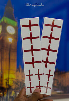 16 x England Flag St Georges temporary face tattoo Rugby Football fans favourite