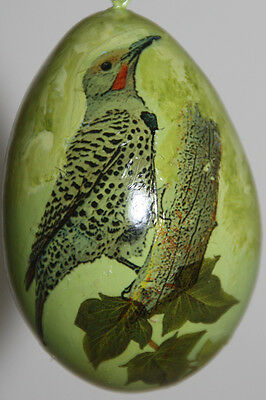 gourd Easter egg, yard art or Christmas ornament with flicker