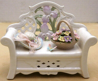 "San Francisco Music Box ""garden Bench With Flowers"" Sku82970020875"