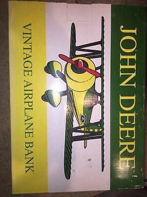 Spec Cast #37516 1994 John Deere Vintage Airplane Bank Limited Edition with box