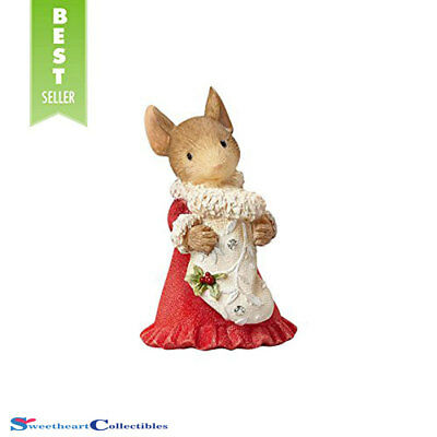 Heart Of Christmas 4057652 Mouse With Stocking Figurine 2017