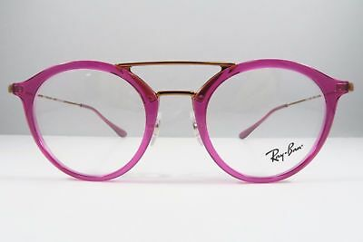 861ef09e93 Ray-Ban RB 7097 5631 Pink on Bronze New Authentic Eyeglasses Round 47mm - 16