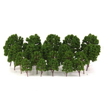 20 Tree Models Train Railway Wargame Diorama Scenery Lanscape 1/75-200 Green