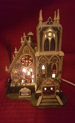 Dept 56 All Hallows Eve All Saints Church DICKENS' Village Lighted w/Box Perfect