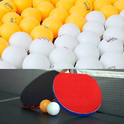 50pcs 3-Stars 40mm celluloid White/Orange Olympic Ping Pong Table Tennis Ball