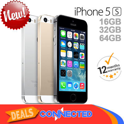 NEW Apple iPhone 5s 16GB 32GB 64GB Space Grey Silver Gold Smartphone Unlocked