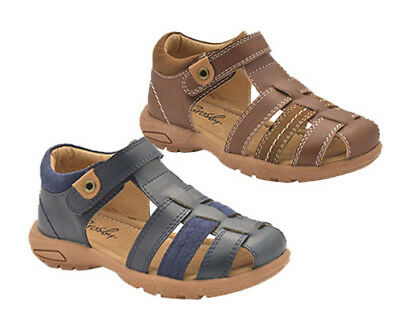 Boys Shoes Grosby Fitz Hook and Loop Covered Toe Sandals UK Size 5-10 New