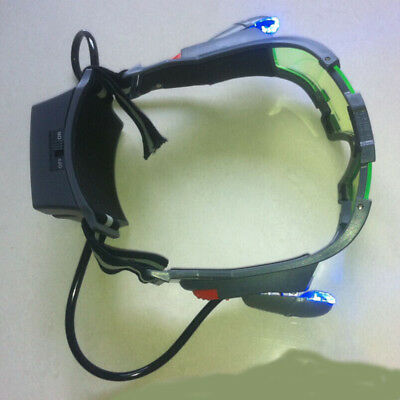 LED Night Vision Glass Goggles with Filp-out Light Windproof Night Lighting CB