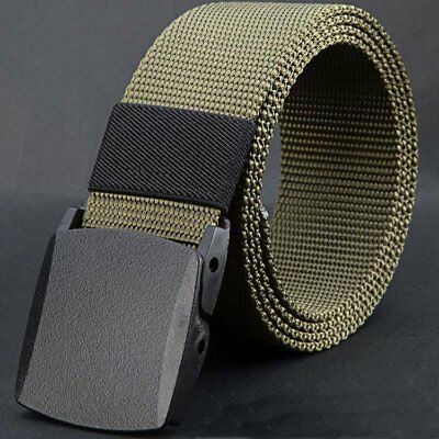 Men's Fashion Outdoor Sports Military Tactical Nylon Waistband Canvas Web Belt C