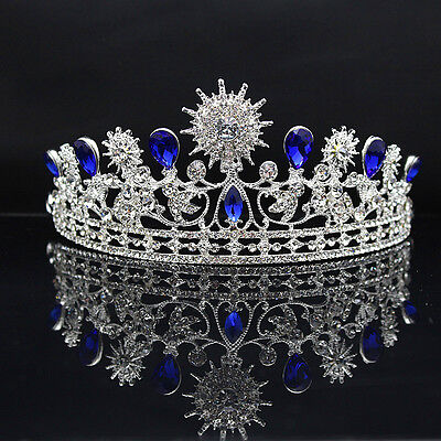 IT- HOT Women Vintage Rhinestone Crown Tiara Wedding Bridal Pageant Headband Nov