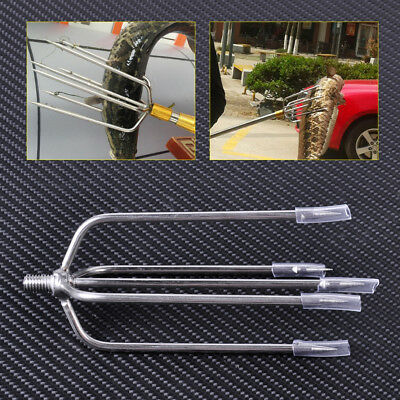 Silver 5-Prong Stainless Steel Fish Frog Eel Salmon Barbed Gig Spear for fish