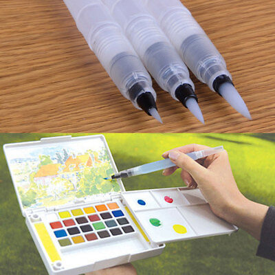 1/3Pcs S/M/L PILOT WATER BRUSH INK PEN COLOR CALLIGRAPHY PAINT DRAWING TOOL UK