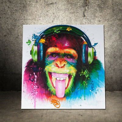 Unframed Modern Abstract Oil Painting Colorful Music Orangutan Huge Wall Decor