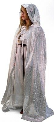 LARP-SCA-Snow Queen-Fairy Godmother-Panto DELUXE SEQUINED VELOUR CLOAK