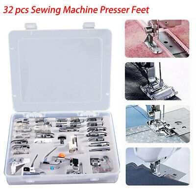 32pcs Sewing Machine Foot Presser Feet Kit for Brother Singer Domestic Snap