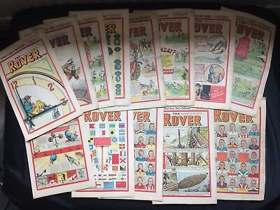 13 Original 1948 The Rover Comics