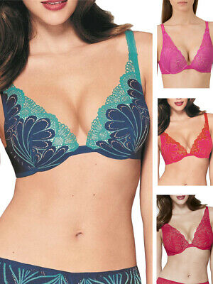 Wonderbra W02LN Refined Glamour Underwired Push Up Boost Cup Bra Red Skin Pink
