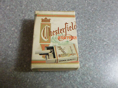 Vintage Metal Chesterfield Cigarette Box Style Pullout Ashtray
