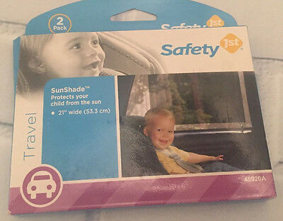 "H49 NEW Safety 1st SunShade Car Sun Protector Screen Pack Of 2 Child 21"" 10702"