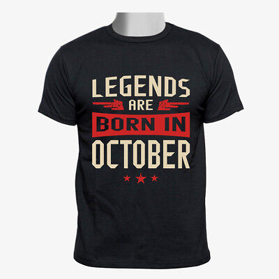 Legends Are Born in October Custom gildan Men Tshirt size S-2XL