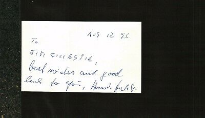 Hans Fichtner Signed Index Card V-2 Rocket Operation Paperclip