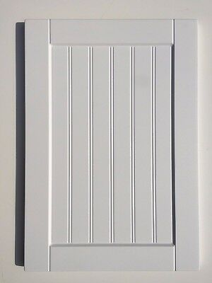 Bead & Butt T&G Matt White Shaker kitchen cabinet cupboard doors grooved pane