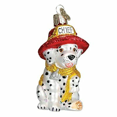 Old World Christmas Dalmatian Pup Glass Blown Ornament