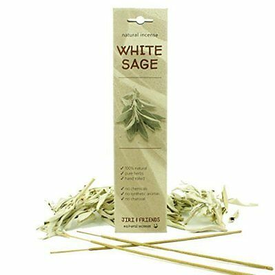 Natural White Sage - Hand Rolled Incense Sticks (15 pieces)
