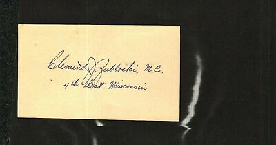 Clement Zablocki Vintage 1953 Signed Card War Powers Act