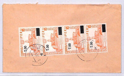 XX139 1977 PERU AIR SURCHARGES Lima Commercial Airmail Cover