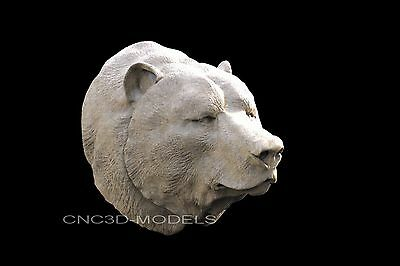3D STL Models for CNC Router Engraver Carving Artcam Aspire Bear Face 698