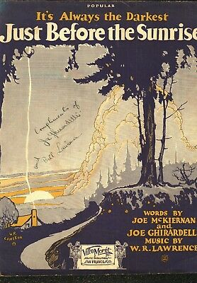 Ted Lewis, Joe Ghirardelli & Bill Laurence Signed  Sheet Music 1925 & 1929