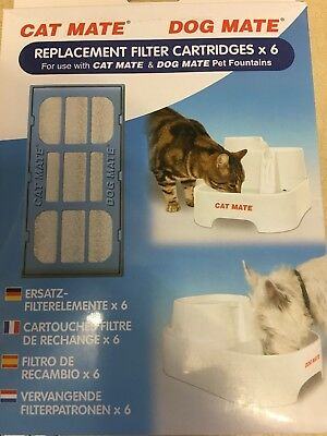 Pet Mate Cat Dog Water Fountain Replacement Filter Cartridge 6 Pack for 355 ,385