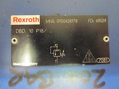 Rexroth DBD 10P18/  Presure Relief Valve Direct Operated