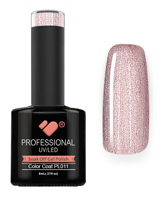 PL011 VB Line Platinum Light Rose Gold Metallic - nail gel polish - super polish