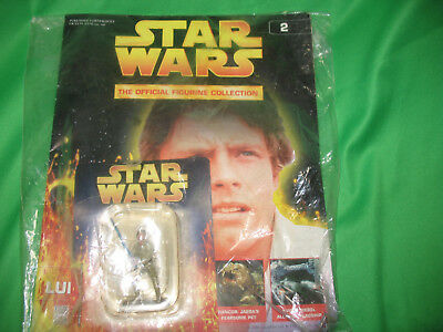 Deagostini Star Wars Figurine Collection - 2 - Luke Skywalker Unopened with book