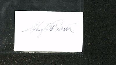 Stansfield Turner Signed Index Card Uninscribed CIA Director
