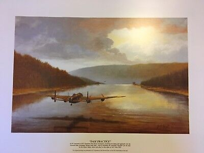 "Dambusters 617 Squadron RAF Lancaster  ""DAM PRACTICE"" 45th Anniversary Print"