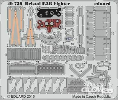 Eduard Accessories 49739 Bristol F2B Fighter for Revell in 1:48